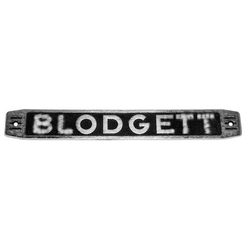 """All Points 26-2308 1 3/4"""" x 12 3/4"""" """"Blodgett"""" Name Plate"""