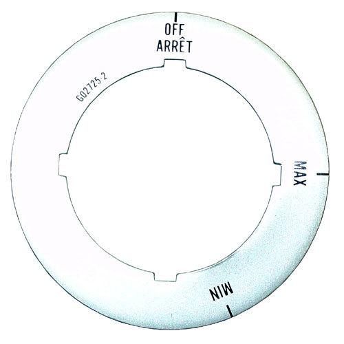 Garland / US Range G02725-2 Equivalent Knob/Dial Insert; Off, Max, Min