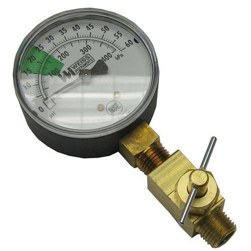 "Stero P651136 Equivalent Pressure Gauge; 0 - 60 PSI; 1/4"" MPT Bottom Mount"