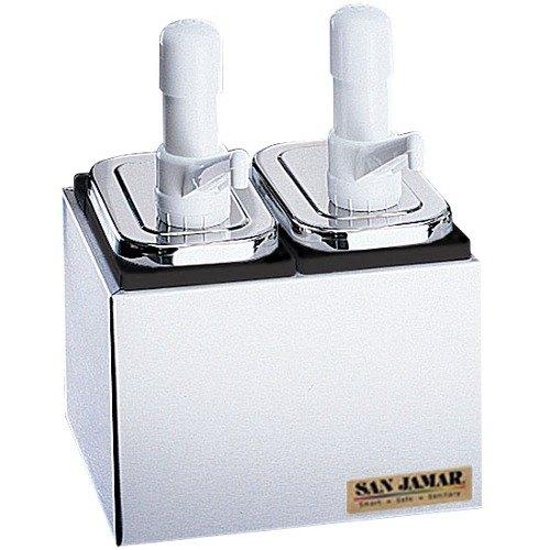 San Jamar P9712 Condiment Pump Service Center - 2 Wells