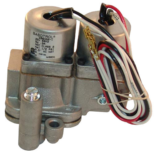 "Groen 079801 Equivalent Dual Natural Gas Solenoid Valve; 1/2"" FPT; 25V"