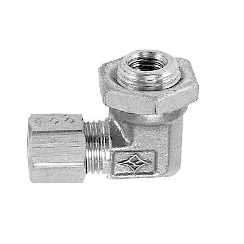 "All Points 26-1837 Burner Base Elbow - 1/2"" CCT x 1/2-20 Male Threaded End"