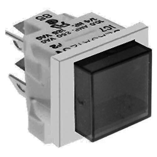 All Points 42-1065 Square Push Button On/Off Switch with Red Light - 10A/125V