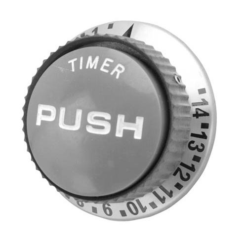 "All Points 22-1199 2 3/8"" Push Timer Knob (1-14) Main Image 1"