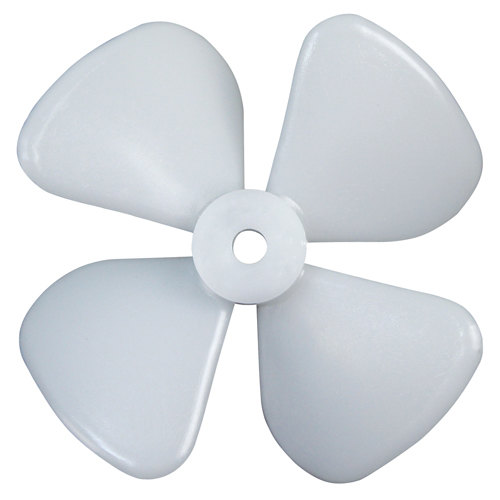 "All Points 28-1348 White Plastic Fan; 3"" Diameter"
