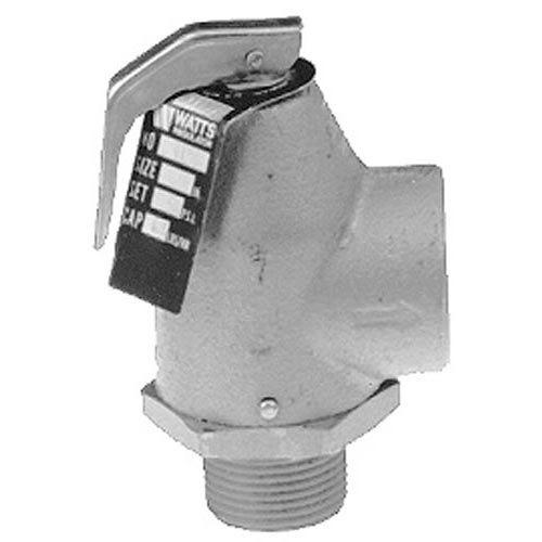 "Market Forge S10-2821 Equivalent 15 PSI Bronze Steam Safety Relief Valve - 3/4"" NPT, 450 lb./Hour"