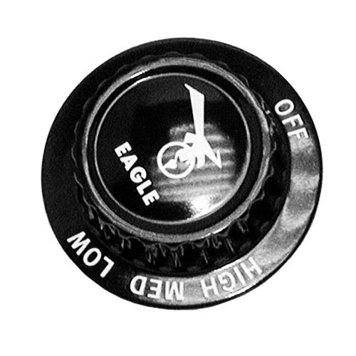 "All Points 22-1310 2"" Eagle Burner Valve Knob (Off, Lo, Med, Hi)"