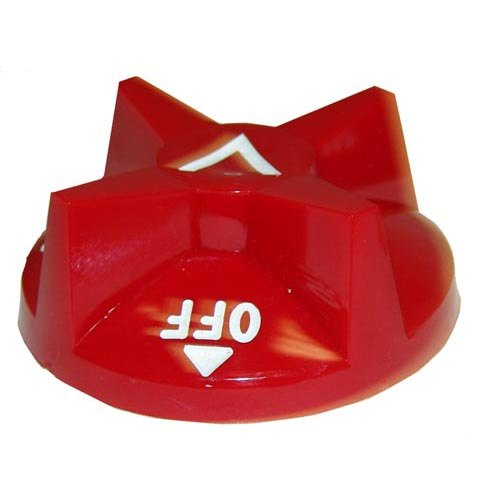 """Vulcan 407727-3 Equivalent 2 7/8"""" Red Broiler / Oven / Cheese Melter / Salamander Polycarbonate Knob (Off-On) Main Image 1"""