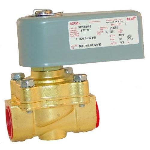 "Asco HV2360182 Equivalent Water Solenoid Valve with Junction Box; 3/4""; 240V"