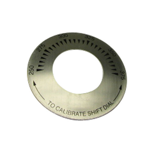 """Keating 34977 Equivalent 3"""" Fryer Thermostat Dial Plate (250-375)"""
