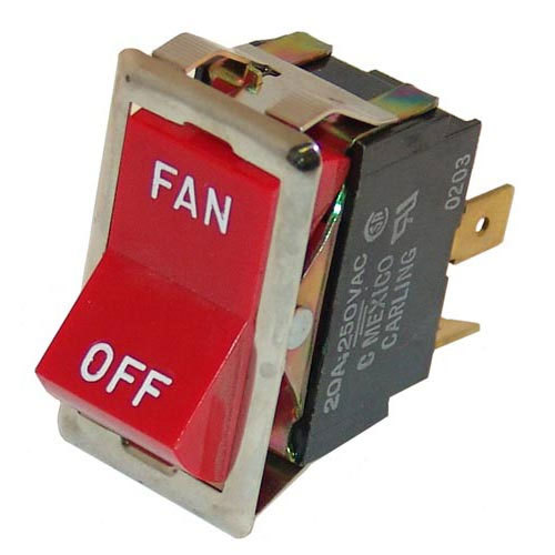 """All Points 42-1308 Fan Switch; 7/8"""" x 1 1/2""""; 125/277V Main Image 1"""