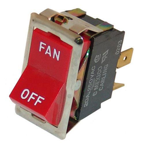 """All Points 42-1308 Fan Switch; 7/8"""" x 1 1/2""""; 125/277V"""
