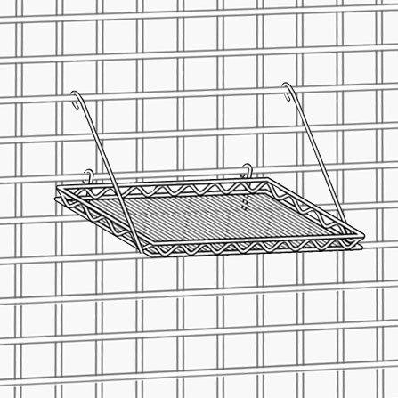 "Metro PBA-MSK3 SmartWall G3 Metroseal 3 Square Grid Shelf - 16 3/4"" x 16 3/4"""