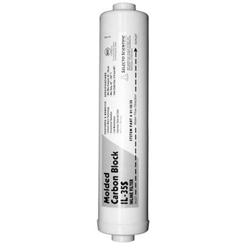 All Points 76-1158 Inline Carbon Block Water Filter Cartridge; IL-35; 1 Micron Rated; 3,000 Gallon