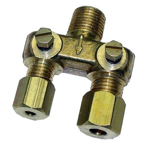 "Garland / US Range 1510403 Equivalent Adjustable Pilot Filter - 1/8"" MPT Inlet, 1/8"" CCT and 3/16"" CCT Outlet"