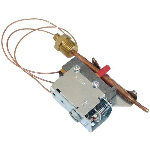 """Hatco 02.16.025A Equivalent Hi-Limit Thermostat; Type 351 with Manual Reset; Temperature 220 Degrees Fahrenheit; 20"""" Capillary Main Image 1"""