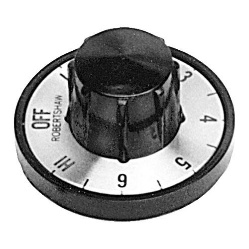 """All Points 22-1055 2"""" Steam Table Knob (Off, Low, 2-6, Hi)"""