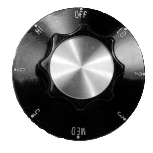 """All Points 22-1072 2 1/4"""" Griddle Infinite Switch Knob (Off, Lo, 2-6, Hi) Main Image 1"""
