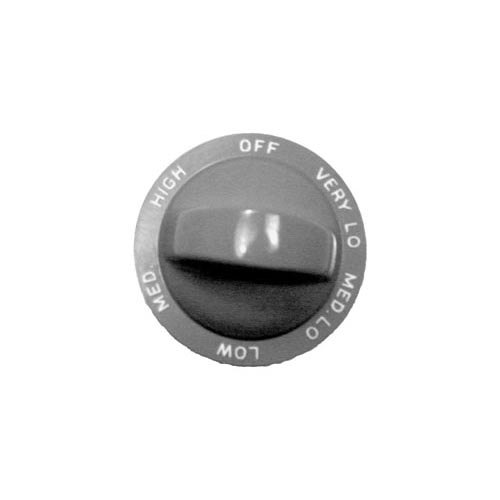 """All Points 22-1268 2"""" Oven Knob (Off, Very Low, Med Low, Low, Med, High)"""
