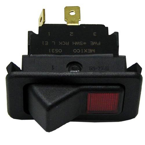 Food Warming Equipment SWH RCK LE1 Equivalent On/Off Lighted Rocker Switch - 20A/125-277V