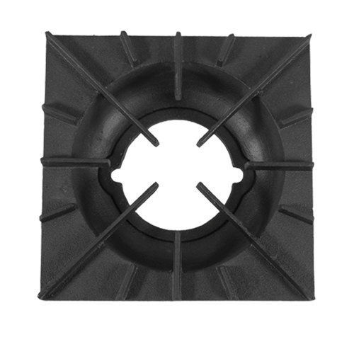 """All Points 24-1143 11 7/8"""" x 11 7/8"""" Cast Iron Open Top Spider Grate with Built-In Bowl"""