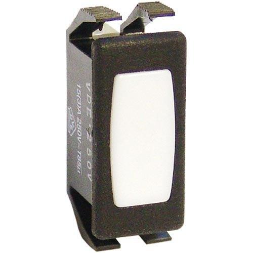 """All Points 38-1480 White 1 1/8"""" x 1/2"""" Signal Light - 230V"""