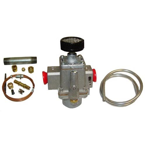 """All Points 52-1135 Safety Valve Kit; Natural Gas / Liquid Propane; 3/8"""" Gas In / Out; 1/4"""" Pilot Out; With Thermocouple, Pilot Tube, and Pipe Nipple Main Image 1"""