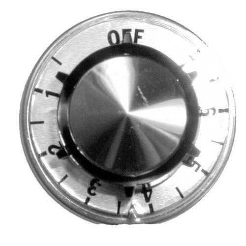 "Hobart 350545-25  Equivalent 2 1/2"" Range Thermostat Knob (Off, 1-7) Main Image 1"