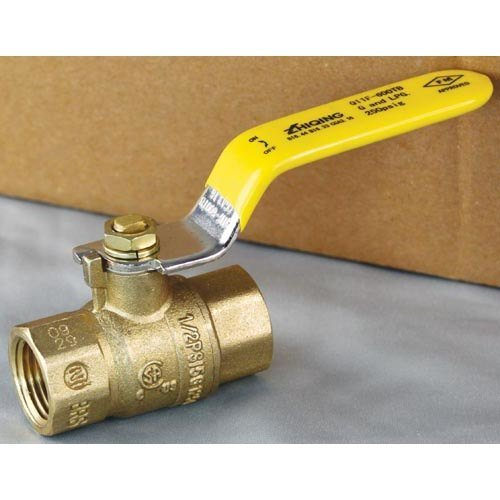 "All Points 52-1130 Gas Shut-Off Valve; 1/2"" Gas In / Out Main Image 1"