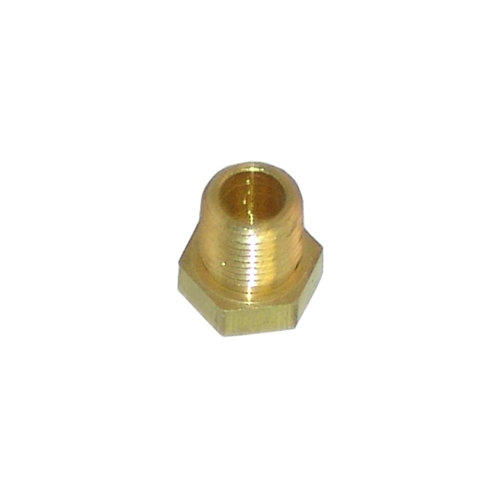 "Frymaster 810-0131 Equivalent Brass Burner Orifice; #55; 1/8"" MPT Main Image 1"