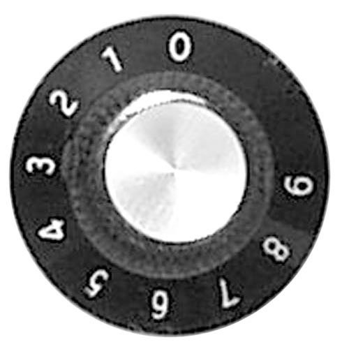 "All Points 22-1518 1 1/8"" Black Warmer Thermostat Knob (0-9)"