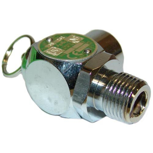 "All Points 56-1338 30 PSI Chrome Steam Safety Relief Valve - 1/2"" NPT Main Image 1"