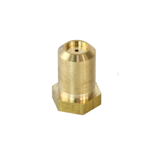 "Grindmaster-Cecilware F126A Equivalent Brass Hood Orifice; #57; Natural Gas; 3/8""-27 Thread; 1/2"" Main Image 1"