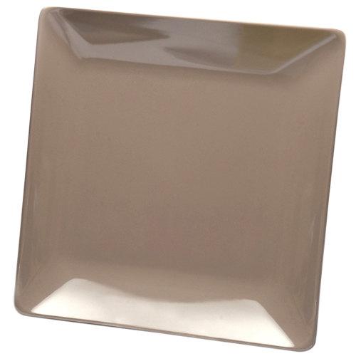 "Elite Global Solutions D1313SQ Squared Mushroom 13"" Square Melamine Platter - 6/Case"
