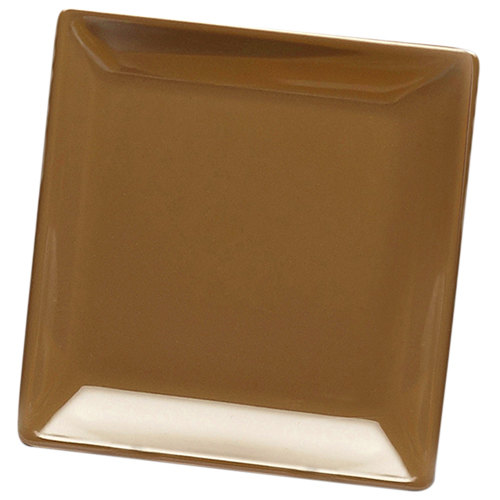 "Elite Global Solutions D99SQ Squared Tapenade 9"" Square Melamine Plate - 6/Case"