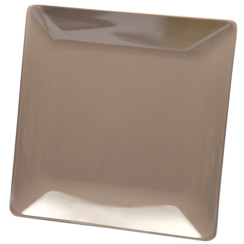 "Elite Global Solutions D77SQ Squared Mushroom 7"" Square Melamine Plate - 6/Case"
