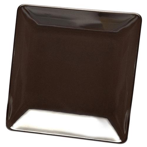 "Elite Global Solutions D1111SQ Squared Aubergine 11 1/2"" Square Melamine Plate - 6/Case"