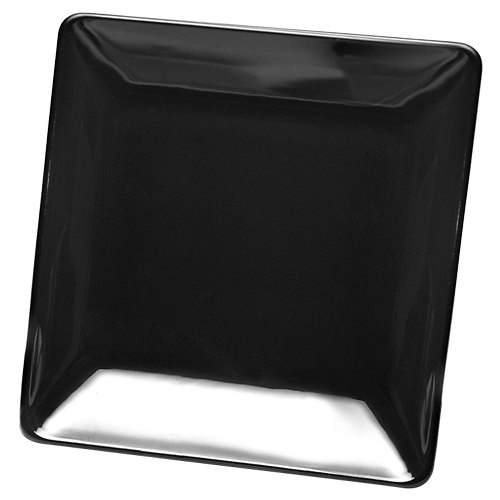 "Elite Global Solutions D1313SQ Squared Black 13"" Square Melamine Platter - 6/Case"