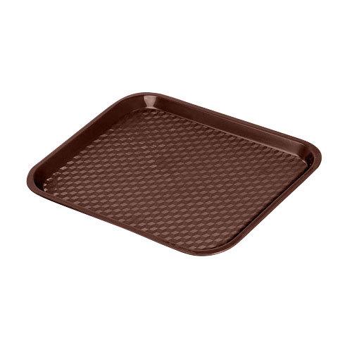 "GET FT-14-BR Brown 14"" x 10 3/4"" Polypropylene Fast Food Tray - 24/Case"