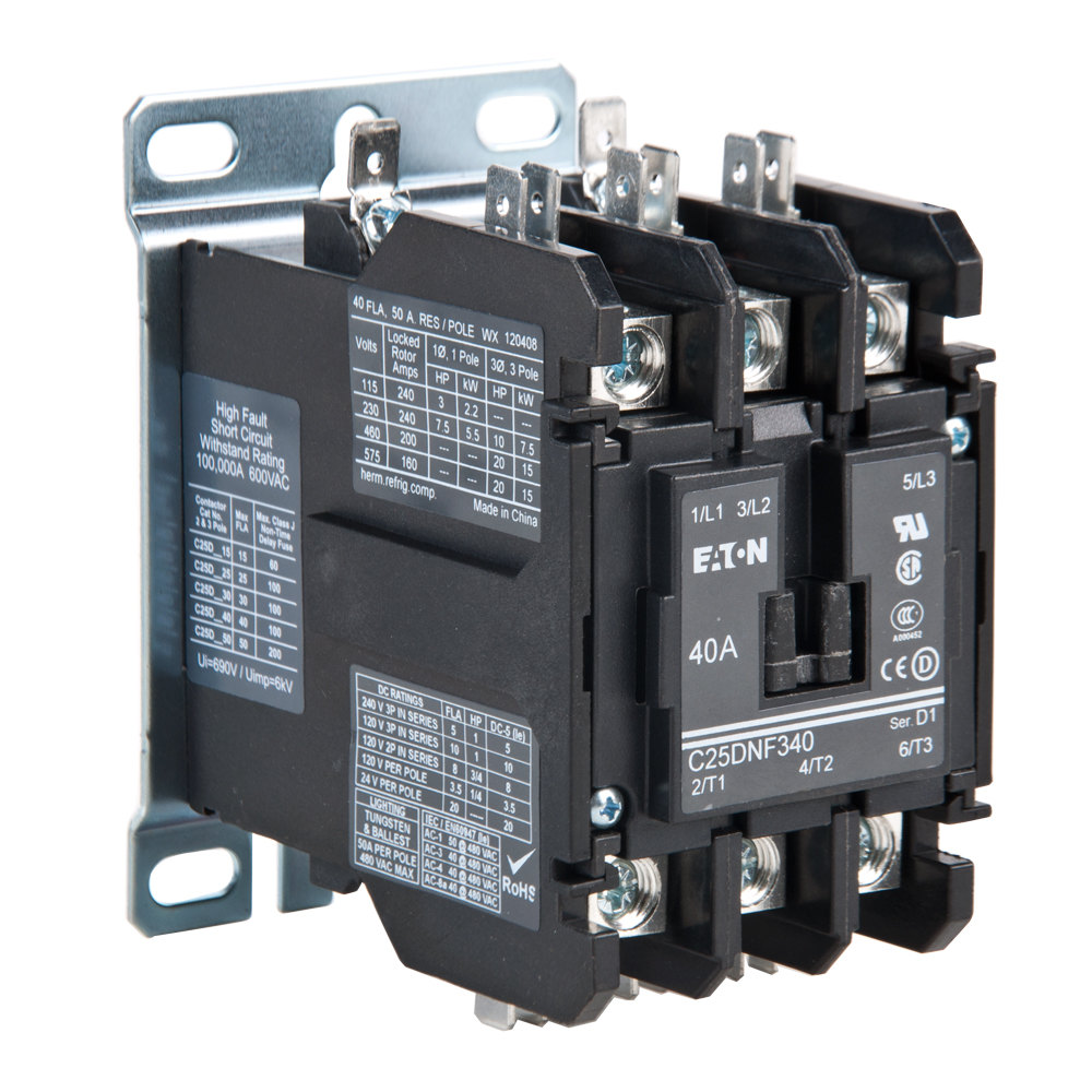 Replacement Non-reversing Contactor  24v  3 Pole