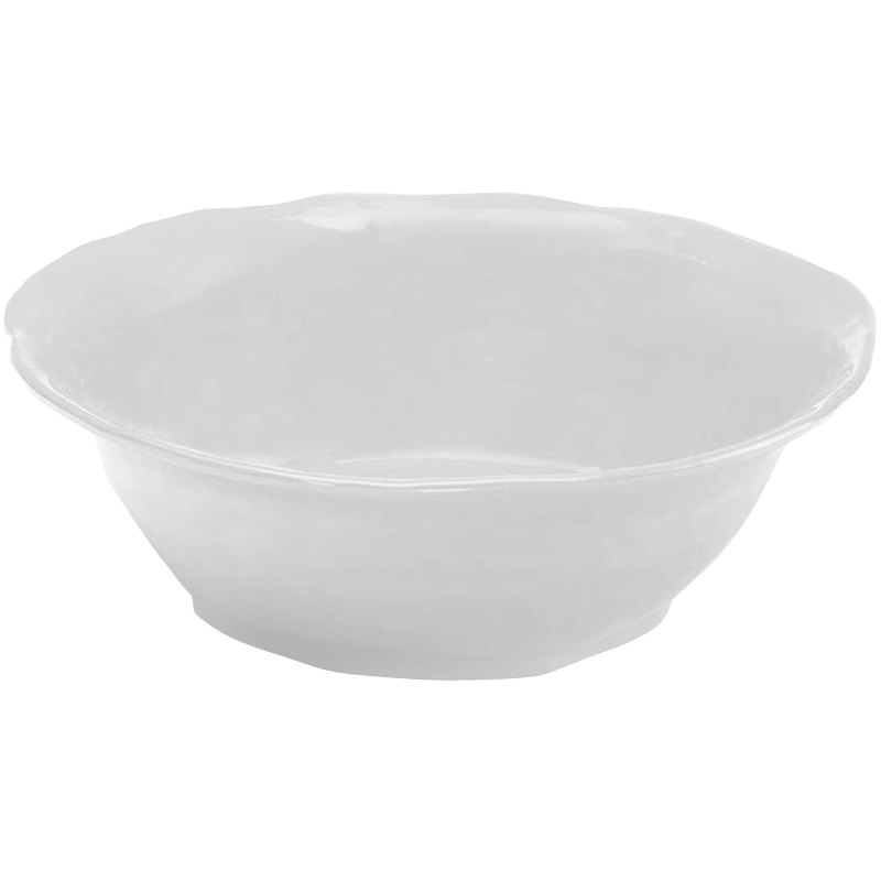 Elite Global Solutions M113BRF Tuscany White 2.5 Qt. Flared Round Bowl