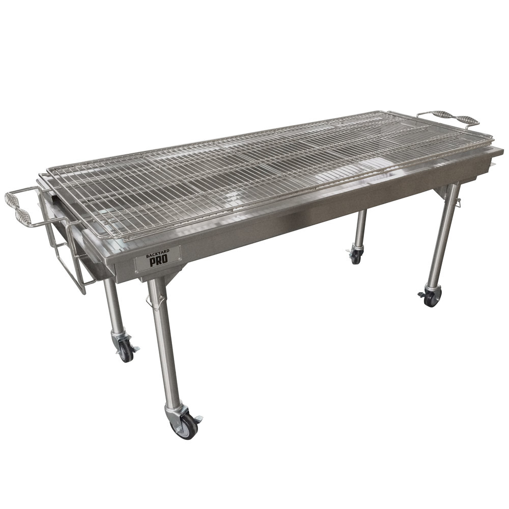 Backyard pro char ss quot stainless steel charcoal grill