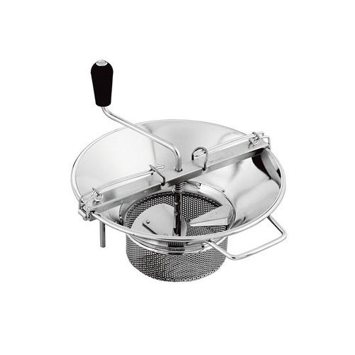 """4mm Grid Tellier X5 14"""" Diameter Stainless Steel Rotary Food Mill - 8 Qt. Capacity"""