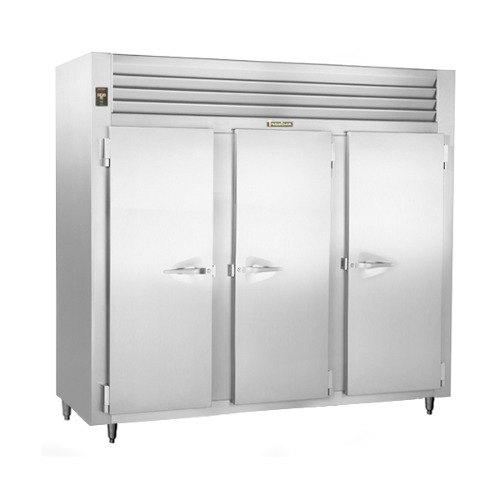 Traulsen RLT332NUT-FHS Stainless Steel 69.5 Cu. Ft. Three-Section Solid Door Narrow Reach-In Freezer - Specification Line