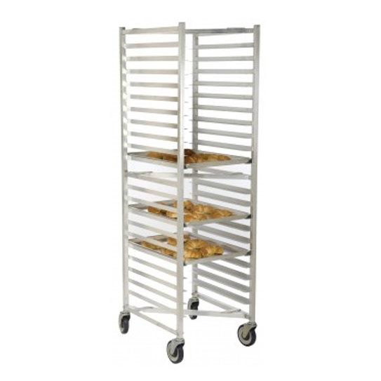"20 Pan End Load ""Z"" Type Nesting Bun / Sheet Pan Rack - Assembled"