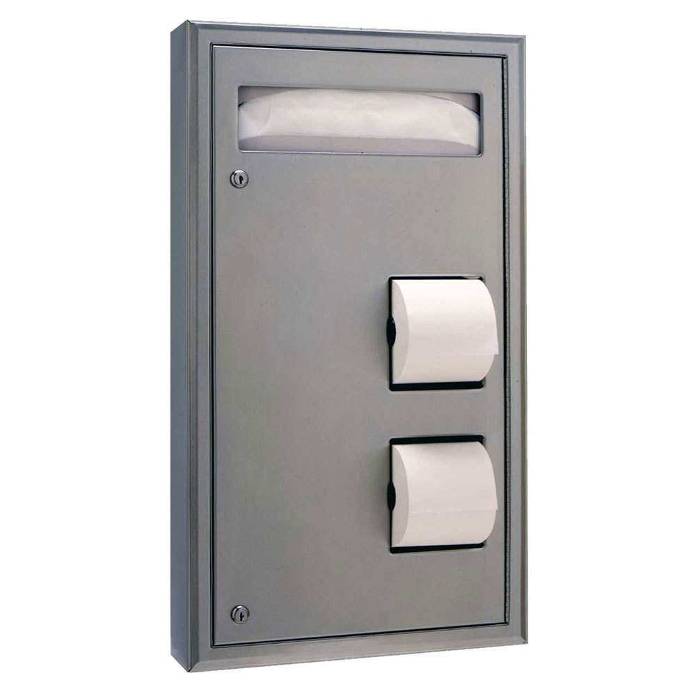 Bobrick B 3479 Classicseries Surface Mounted Seat Cover Dispenser And Toilet Tissue Dispenser
