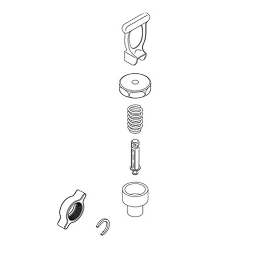 Bunn 41183.0000 Faucet Repair Kit with Black Handle and Sweet / Unsweet Labeling for TD4 & TDS5 Iced Tea Dispensers