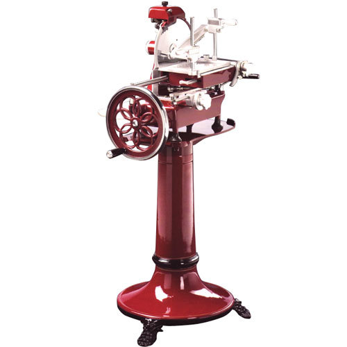 "Volano 14"" Manual Meat Slicer with Flower Wheel"