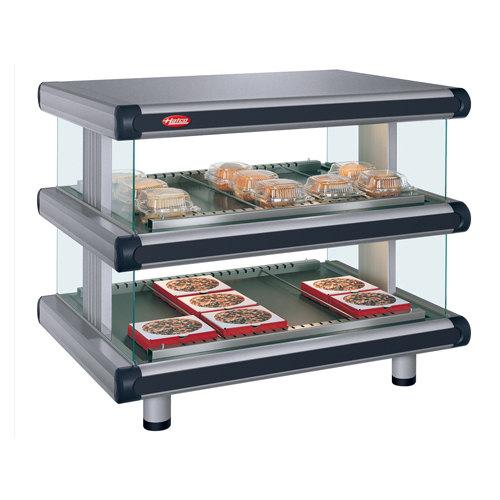 """Hatco GR2SDH-24D Glo-Ray Designer 24"""" Horizontal Double Shelf Merchandiser - 120V"""
