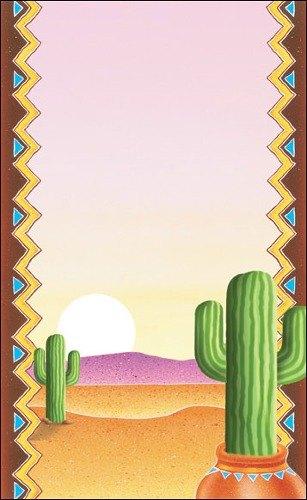 "8 1/2"" x 14"" Menu Paper - Southwest Themed Cactus Design Cover - 100/Pack"